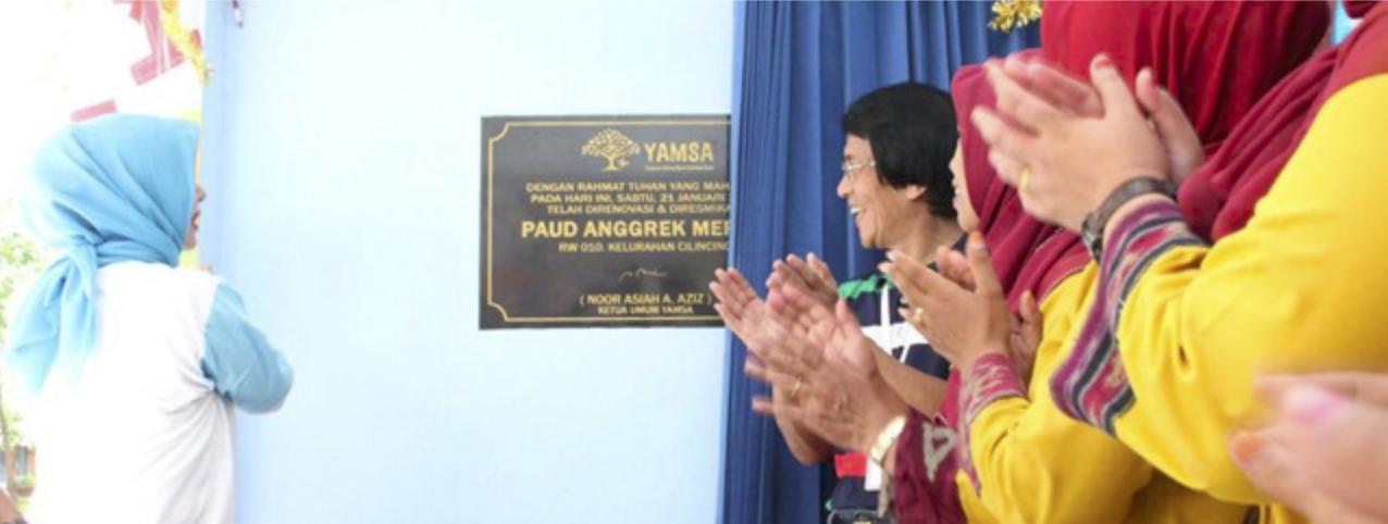 Ketua Umum Yamsa Nur Asia Uno mengangkat harkat & martabat anak Indonesia.