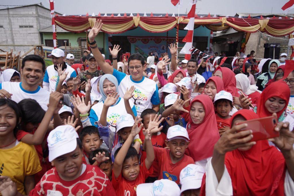 Nur Asia Uno bersama Sandiaga Uno rayakan kemerdekaan Indonesia